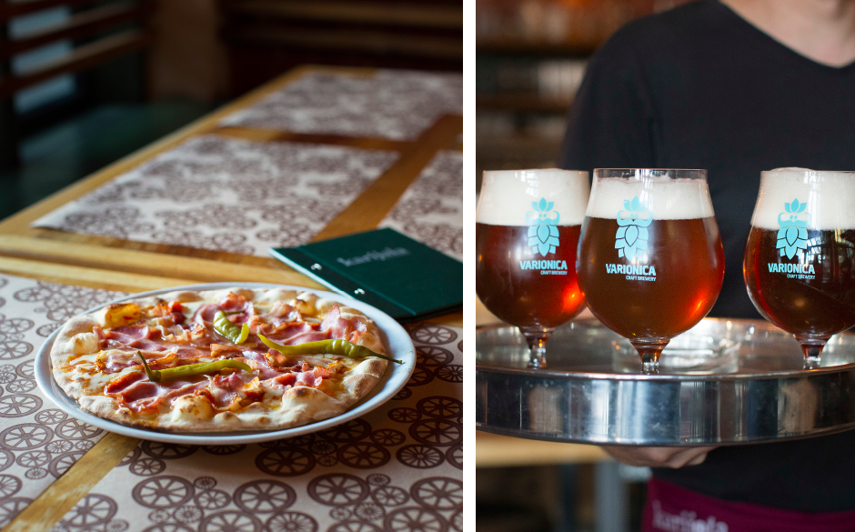 Karijola pizza Varionica craft brewery