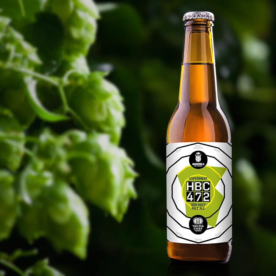 Hrvatska craft piva Varionica craft brewery Varionica pivo Pivovara Varionica HBC 472 Double dry hop hazy pale ale Yakima Chief hops Hops Experimental hops beer craft beer croatian craft beer